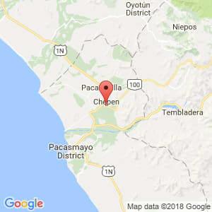 Localización de Chepén en La Libertad