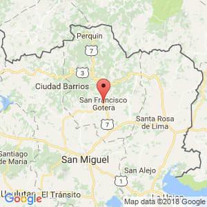 Localización de San Francisco Gotera en Morazán