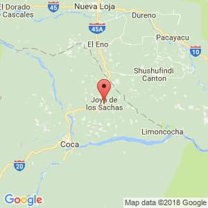 Localización de La Joya de los Sachas en Orellana