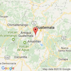 Localización de Barcenas en Guatemala