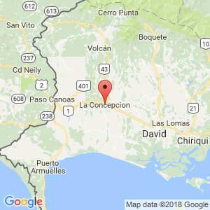 Localización de Concepción en Chiriquí