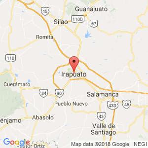 Localización de Irapuato en Guanajuato