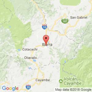 Localización de Ibarra en Imbabura