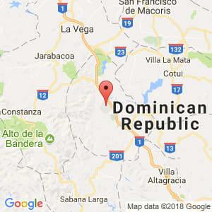 Localización de Bonao en Monseñor Nouel