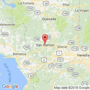 Localización de San Ramón en Alajuela