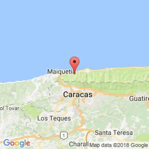 Localización de La Guaira en Vargas