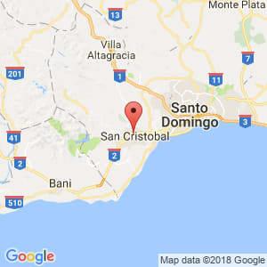 Localización de El Carril en San Cristóbal