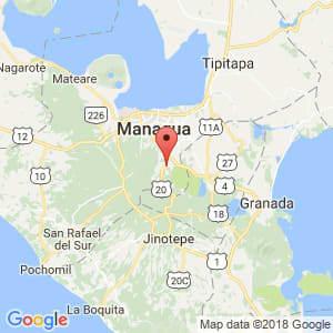 Localización de Ticuantepe en Managua