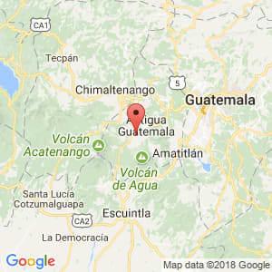 Localización de Ciudad Vieja en Sacatepéquez