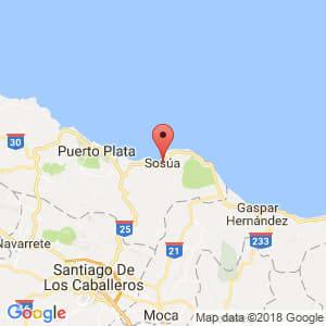 Localización de Sosúa en Puerto Plata