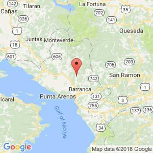 Localización de Miramar en Puntarenas
