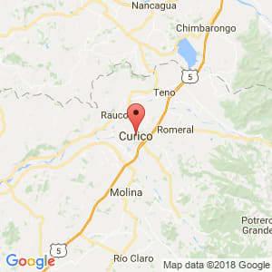 Localización de Curicó en Maule