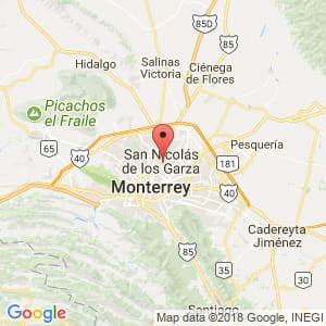 Localización de San Nicolás de los Garza en Nuevo León