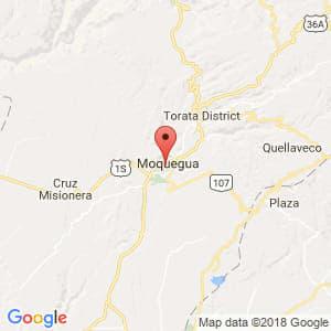 Localización de Moquegua en Moquegua