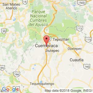 Localización de Cuernavaca en Morelos