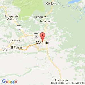 Localización de Maturín en Monagas