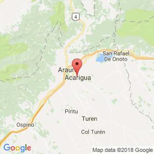 Localización de Acarigua en Portuguesa