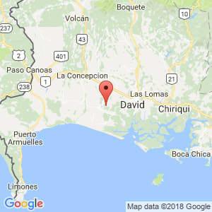 Localización de Alanje en Chiriquí