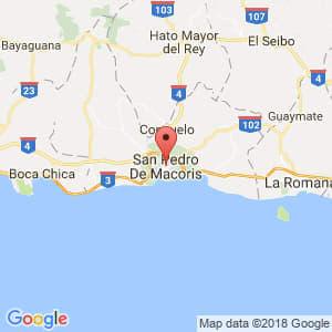 Localización de San Pedro de Macorís en San Pedro de Macorís