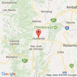 Localización de Guaranda en Bolívar