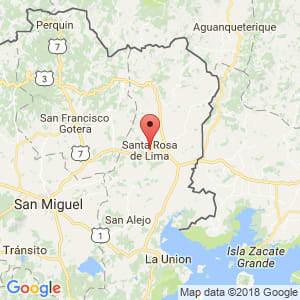 Localización de Santa Rosa de Lima en La Unión