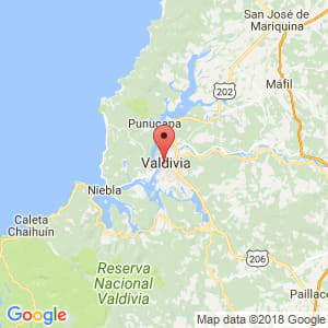 Localización de Valdivia en Los Ríos