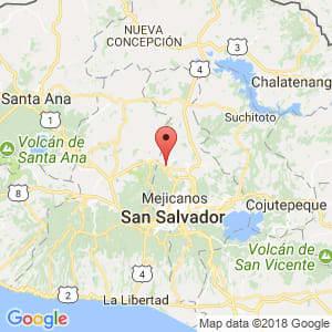 Localización de Nejapa en San Salvador
