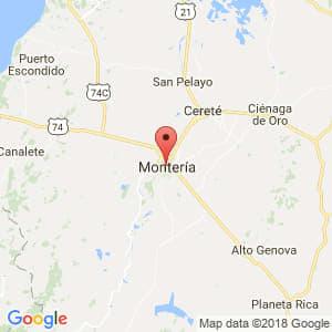 Localización de Montería en Córdoba