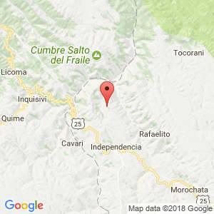 Localización de Bella Vista en Cochabamba