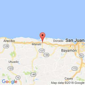 Localización de Vega Baja en Arecibo