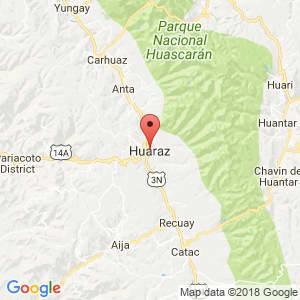 Localización de Huaraz en Ancash