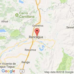 Localización de Rancagua en Libertador General Bernardo O