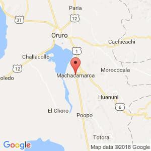 Localización de Machacamarca en Oruro