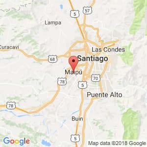 Localización de Maipú en Metropolitana de Santiago