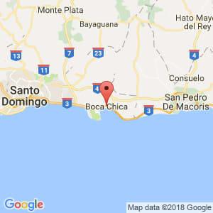 Localización de Boca Chica en Santo Domingo
