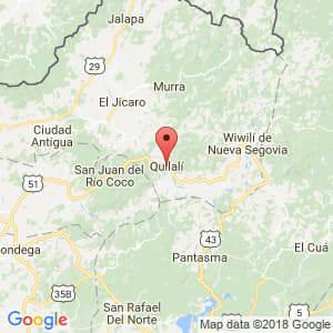 Localización de Quilalí en Nueva Segovia