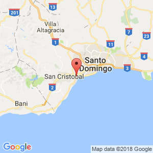 Localización de Bajos de Haina en San Cristóbal