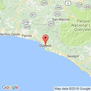 Localización de Quepos en Puntarenas