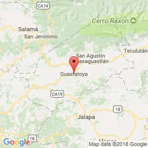 Localización de Guastatoya en El Progreso