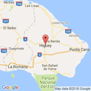 Localización de Higüey en La Altagracia