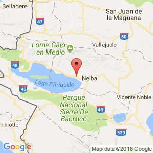 Localización de Villa Jaragua en Baoruco
