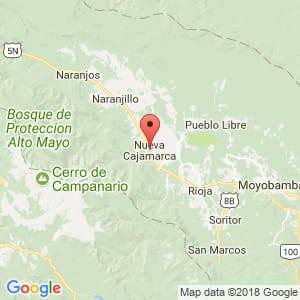 Localización de Nueva Cajamarca en San Martín