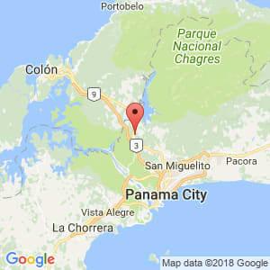 Localización de Chilibre en Panamá
