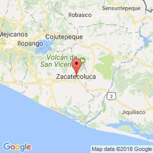 Localización de Zacatecoluca en La Paz