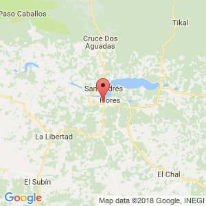 Localización de San Benito en Petén