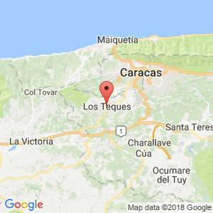 Localización de Los Teques en Miranda