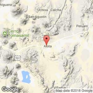 Localización de Alota en Potosí