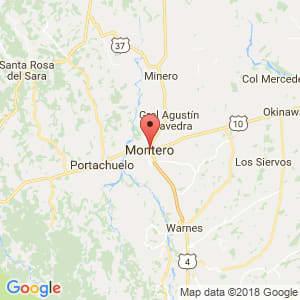 Localización de Montero en Santa Cruz