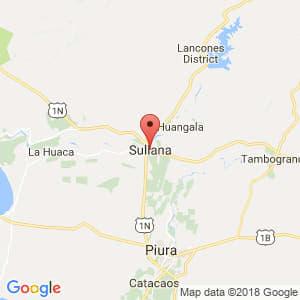 Localización de Sullana en Piura