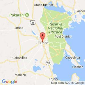 Localización de Juliaca en Puno